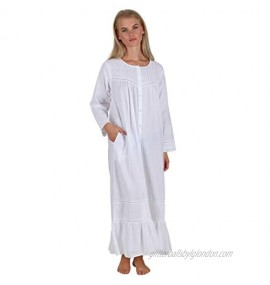 The 1 For U Women's Victorian Nightgown - Long Sleeve Nightgowns Charlotte